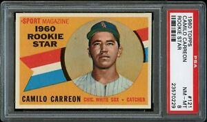 1960-Topps-BB-Card-121-Camilo-Carreon-White-Sox-ROOKIE-STAR-PSA-NM-MT-8