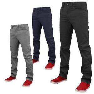 abfa5a642 La foto se está cargando Pantalones-Chinos-para-Hombre -de-Disenador-Elastizado-Pantalon-