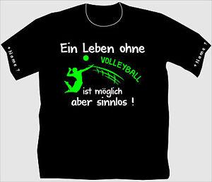 Volleyballshirt Volleyball T-Shirt Trikot Beach Turnier Netz Trainingslager 5