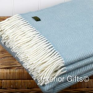 Image Is Loading Pure New Wool British Throw Duck Egg Blue