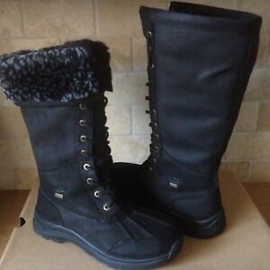 a671f9e2b75 Details about UGG Adirondack Tall III Leopard Black Fur/ Waterproof Snow  Boots Size 9.5 Womens