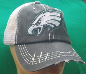 a6c34d820 Image is loading Philadelphia-Eagles-Distressed-Trucker-Cap -Low-Profile-Special-
