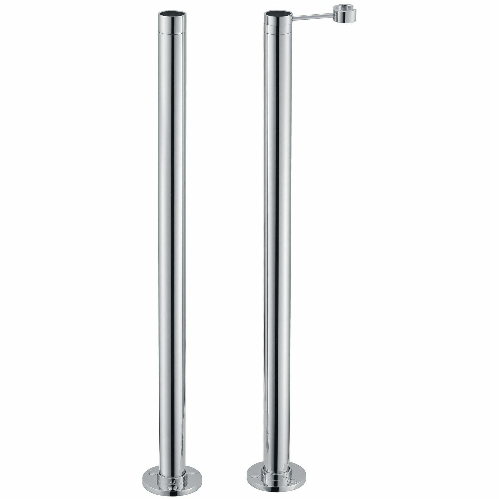Chrome sur pied moderne salle de bain douche mélangeur robinet robinet robinet tuyau jambes carénages | De Haute Sécurité  026f40