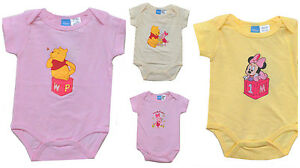 Disney-Minnie-Pooh-Pink-Bodysuit-Short-Sleeve-Newborn-Baby-Girl-0-3-3-6-6-9-NWT