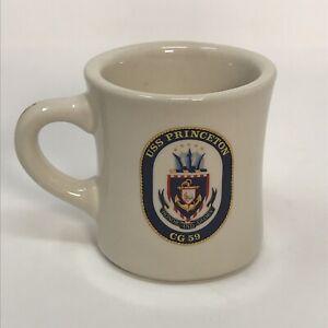 VINTAGE-USS-PRINCETON-CG-59-COFFEE-CUP-MUG-MIL-ART-CHINA-CO-Restaurant-ware