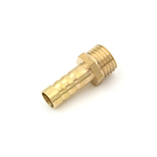 """5Pcs 1//4/""""PT Male Thread to 8mm Hose Barb Brass Straight Coupling Fitting FO"""