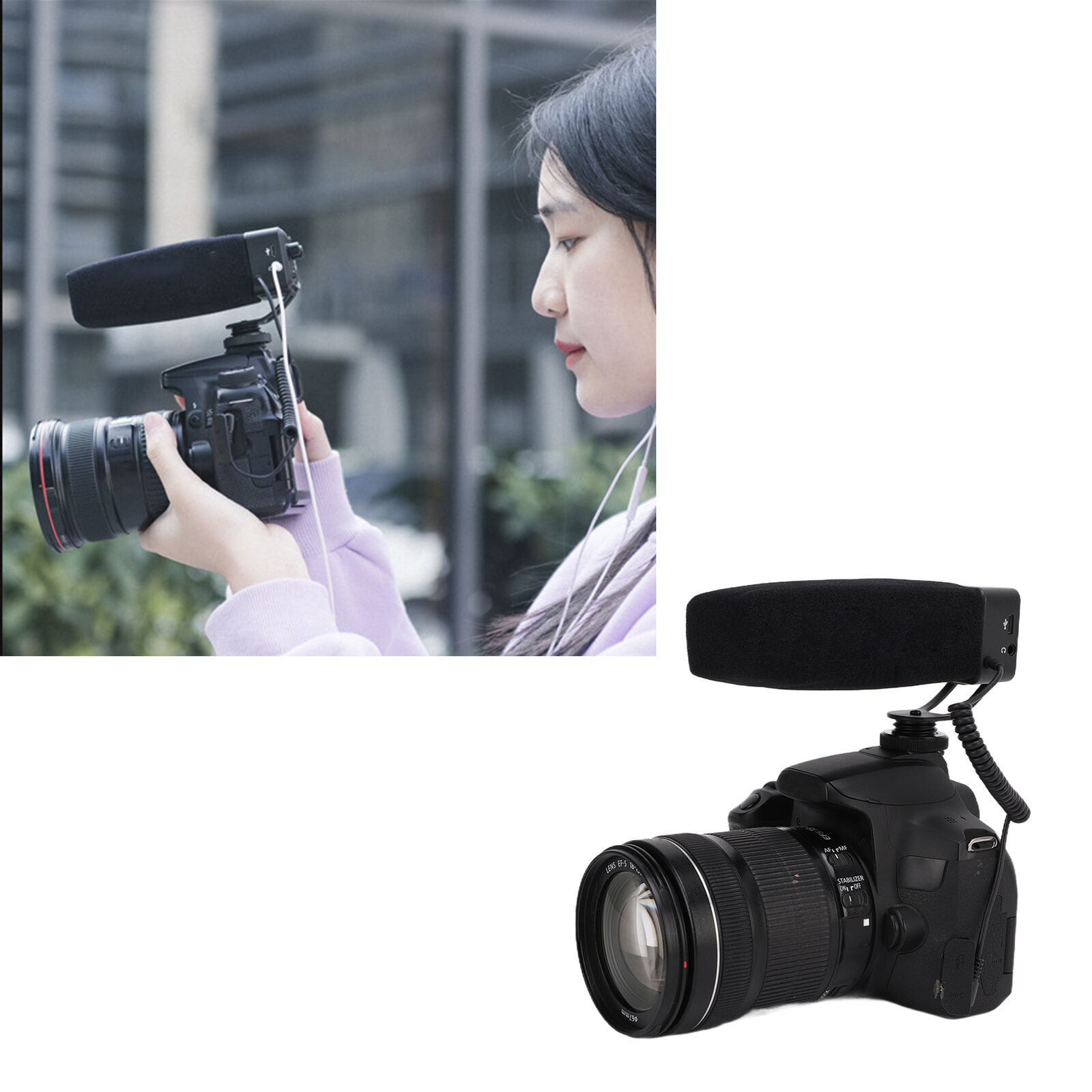 YELANGU Camcorder Interview Microphone Video Photography Mic 37V for DSLR Camera