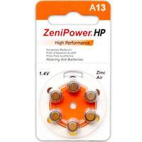120 Zenipower Hearing Aid Batteries Size 13 Batteries