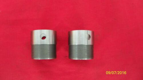 1969-73 TRIUMPH 500 SCREW IN EXHAUST PIPE ADAPTOR SPIGOTS 70-9510 UK MADE