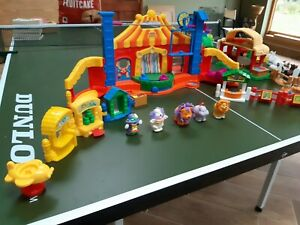 Fisher-Price-Little-People-Large-Joblot-Bundle-Circus-Farm-Station-Truck