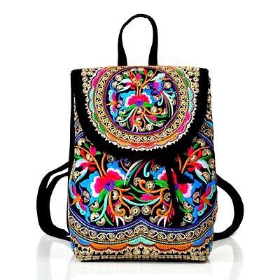 Boho Lady Canvas Shoulder School Bag Girl Ethnic Tribal Bags Backpack Rucksack