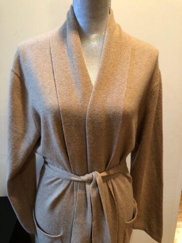 NEW  ARLOTTA 100% Cashmere Robe Long  Beige  Size XS/S