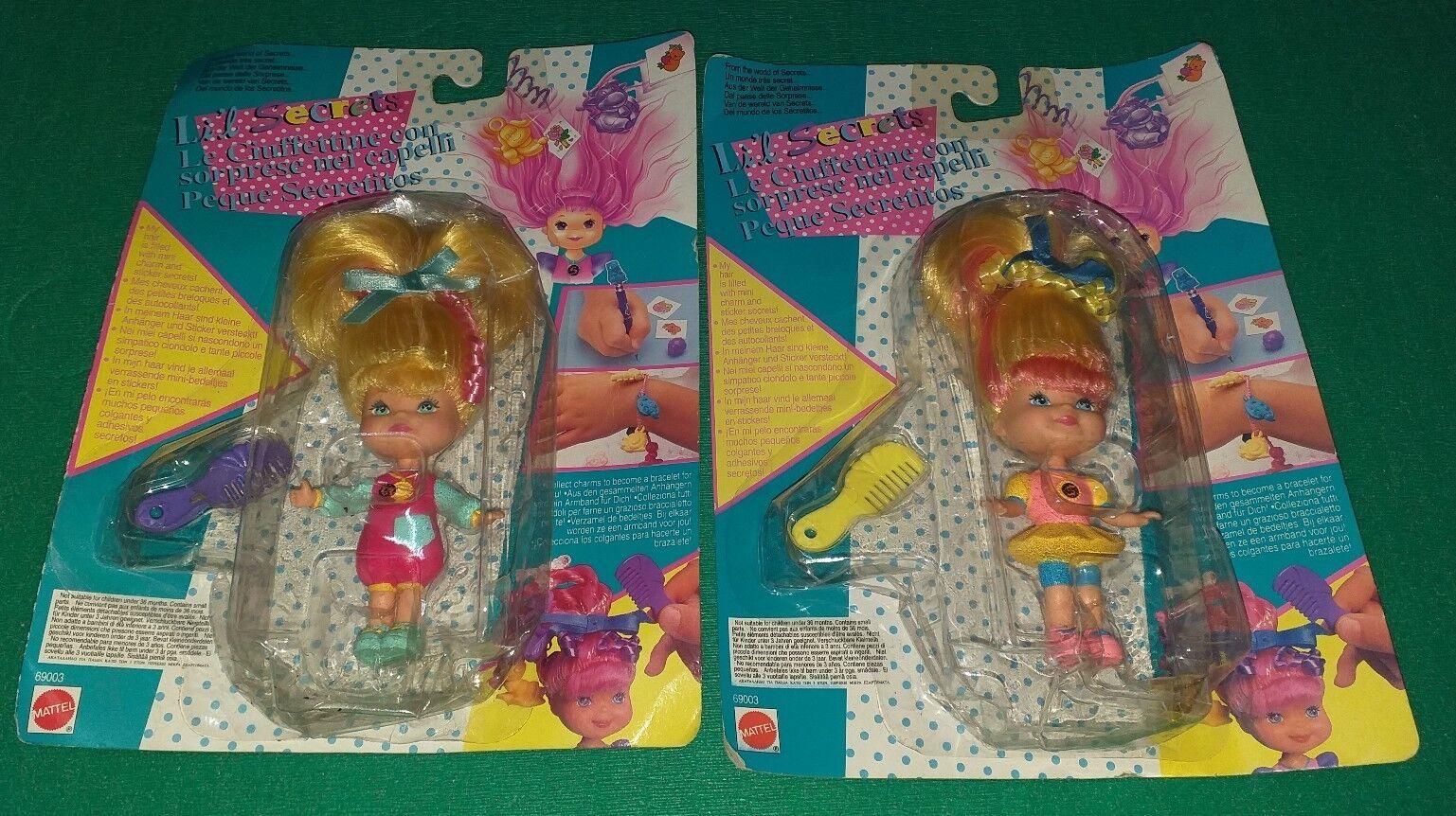 ventas en linea 2 Lil Lil Lil secrets Le Ciuffettine Mattel Vintage 1993  venta al por mayor barato