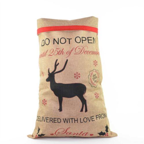 Christmas Santa Hessian Mail Post Sack Red Felt Xmas Stocking Gifts Filler Bags Holiday Seasonal Décor Christmas Winter Décor
