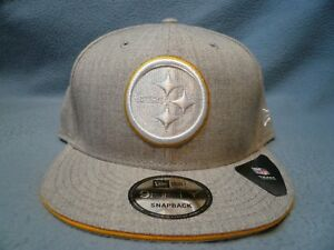 New-Era-9Fifty-Pittsburgh-Steelers-White-Hot-Heather-Snapback-BRAND-NEW-hat-cap