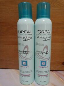 2 X L'Oréal Paris Elvive Extraordinary Clay Dry Shampoo, 4 oz Each. Shipped Free