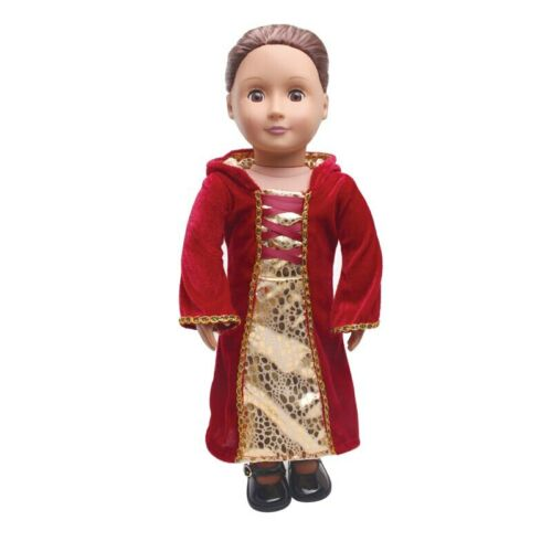 18 inch Girls doll clothes Court witch suit princess Snow White Anna dress