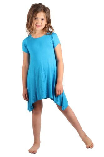 Lori/&Jane Girls Comfy Swing Tunic Short Sleeve Solid T-Shirt Dress