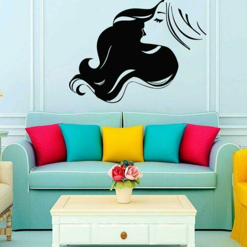 Beauty Salon Makeup Female Living Room Bedroom Home Wall Decor Art Sticker Black