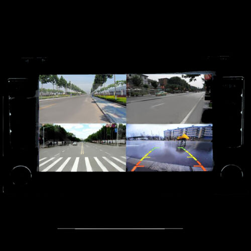 4-Way delantera//trasera//derecha//izquierda de estacionamiento interruptor de vídeo cámara de visión combinan la caja de control