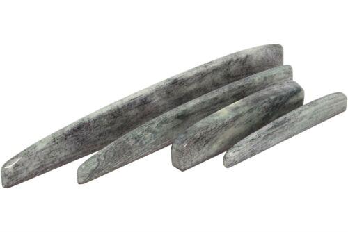 "3.5/"" x .43/"" x .14/"" Dyed Bone Saddle Blanks Tinted Granite 10 pack"