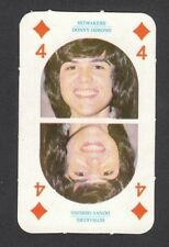 The Osmonds Donny Marie Osmond 1970s Hitmakers UK Gum Pop Rock Playing Card E