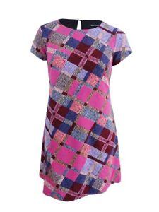 Ellen-Tracy-Women-039-s-Plus-Size-Printed-Knit-Dress