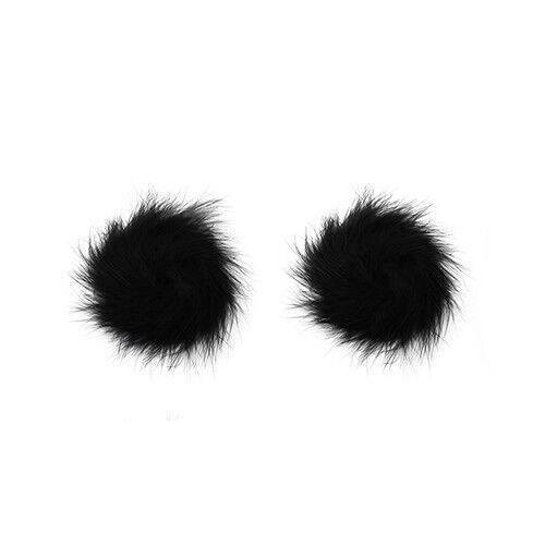 Fluffy Tassel Pasties Nipple Covers Stick on Breast Bra Lingerie Burlesque UK