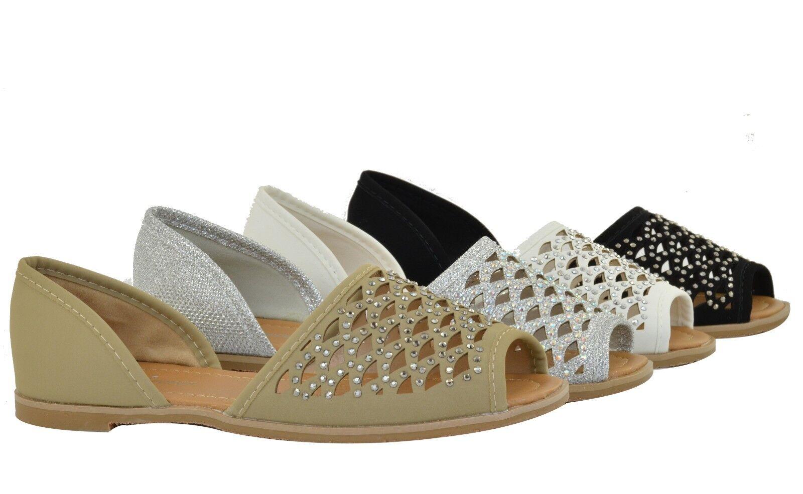 Women Sandals Flat Comfortable Design Fashion Cute Hollow Rhinestone Design Comfortable 24f7f6