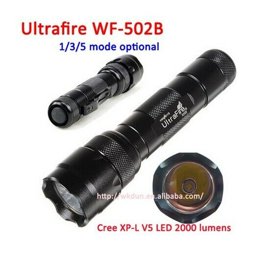 UltraFire WF-501B 2000LM 5 Mode CREE T6 LED 18650 Tactical Flashlight Torch Lamp