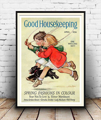 Good Housekeeping 1934 Vintage Magazine cover poster reproduction.