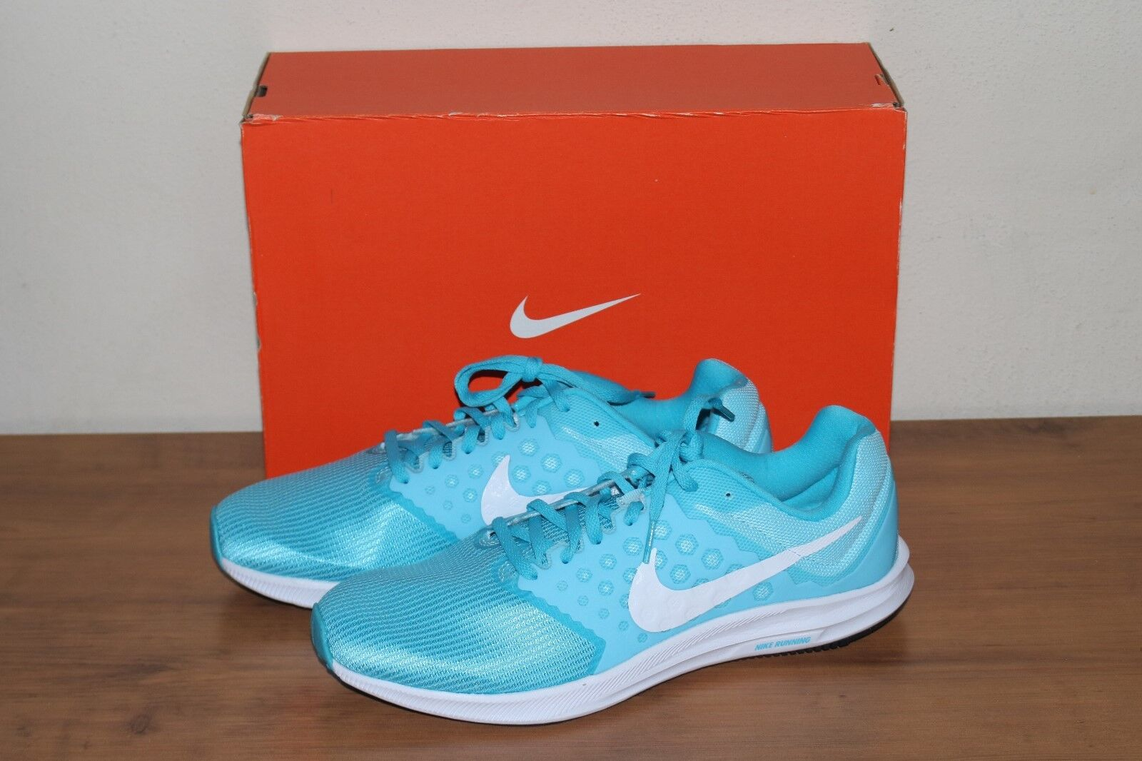 New Nike Downshifter 7 Blue White Running Training Shoes Women's Size 11.5