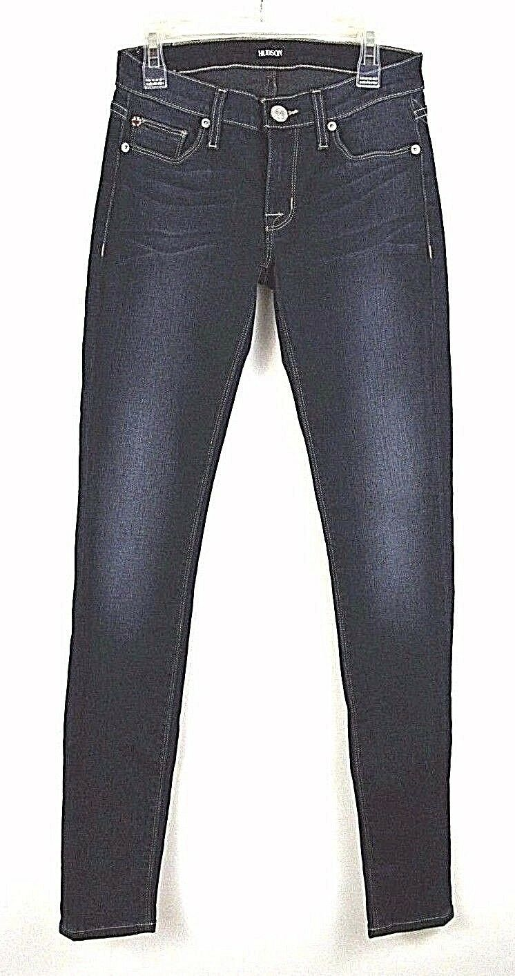 HUDSON jean pant 24 Slim,Supper skinny Straight bluee Womens Stretch  198.00 NWT