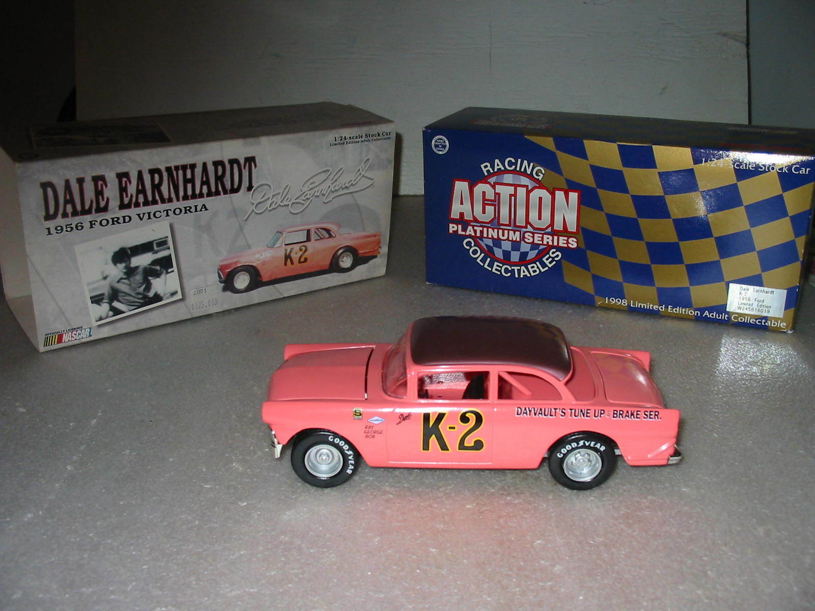 Dale Earnhardt Action Diecast '56 Ford Victoria 1 24 Scale- New in Box