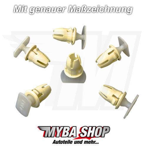 10x Capot Support de Fixation Clips Douilles Mercedes Benz A0019887681
