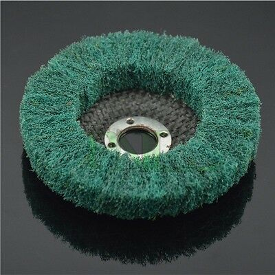 "5Pcs 4/"" Green Fold Felt Sanding Polishing Buffing Wheel With Sanding Disc"
