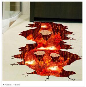 3d Vulkan Magma Sticker Smash Boden Aufkleber Kinder Zimmer