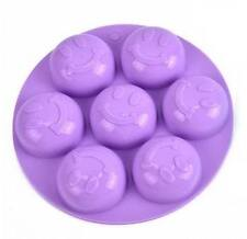 Smile Smiley Happy Face Chocolate Jelly Ice Clay Fondant Silicone Mold Molder