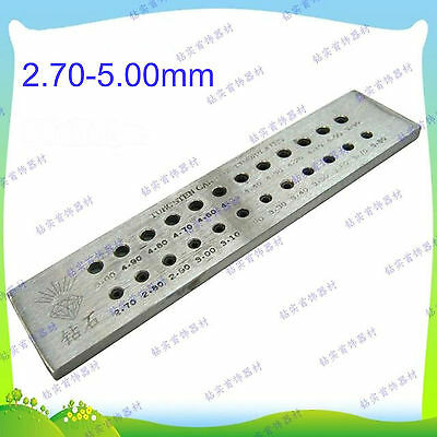 Tungsten Carbide Wire Drawplate Jewelry Making 24 Round Holes 2.70-5.00mm #EY-6