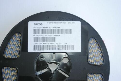 100uF 6.3v Tantalum Capacitor C CASE B45197A1107M309 Low ESR B RoHS New 25pcs