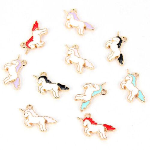10X Cartoon Alloy Horse//Unicorn Pendant Charm DIY Floating Enamel Jewelry Making