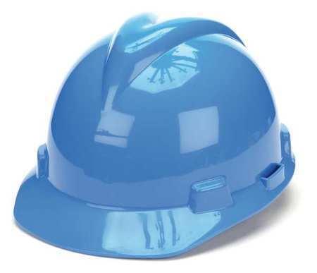 Hard Hat,FrtBrim,Slotted,PinLk,Blue MSA 476928