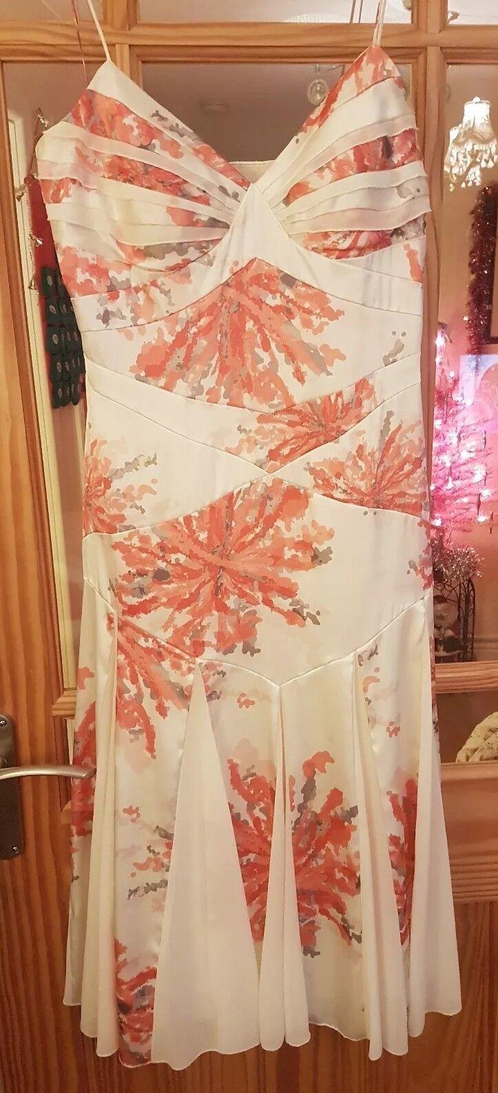 BNWT New Tags Ladies Amanda Wakeley Designer Satin Voile Occasion Dress