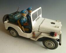T.N. Nomura Police Patrol No 3 Jeep Japan Blechspielzeug Batterie Big Size!