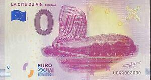 BILLET-0-EURO-LA-CITE-DU-VIN-BORDEAUX-FRANCE-2018-NUMERO-2000