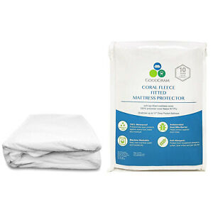 Deep Pocket Mattress Protector Waterproof Matress Pad Cotton Terry Fitted Cover