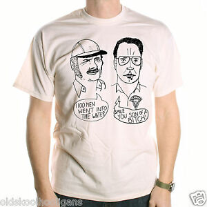 dcb9dfef2 A Tribute To Jaws T Shirt - Brody & Quint Sketch An Old Skool ...