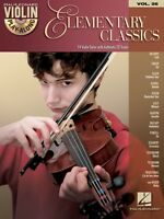 Elementary Classics Sheet Music Violin Play-along Book And Cd 000842643