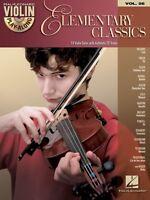 Elementary Classics Sheet Music Violin Play-along Book And Cd 000842643