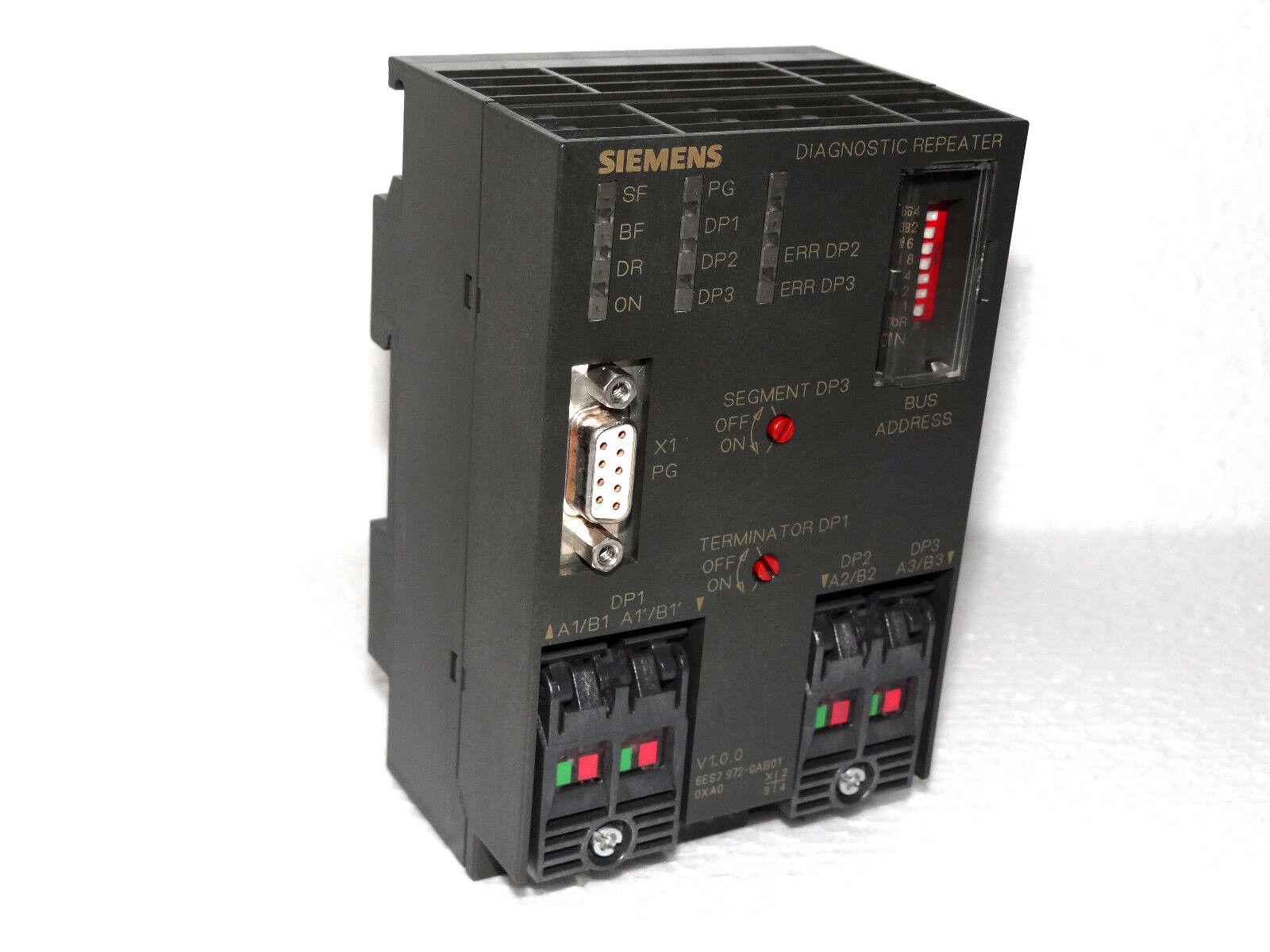 Siemens Simatic S7 6es7 972 0ab01 0xa0 Diagnostic Répéteur 6es7972